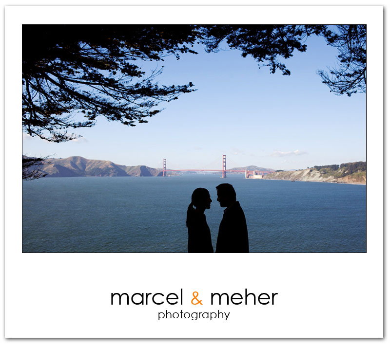 San Francisco Engagement session with Golden Gate Bridge