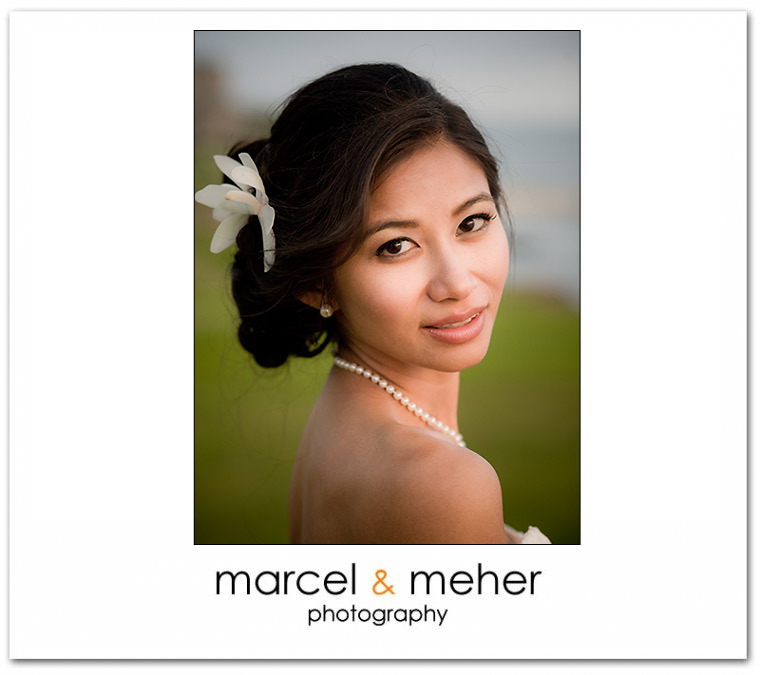 bride portrait at half moon bay golf links