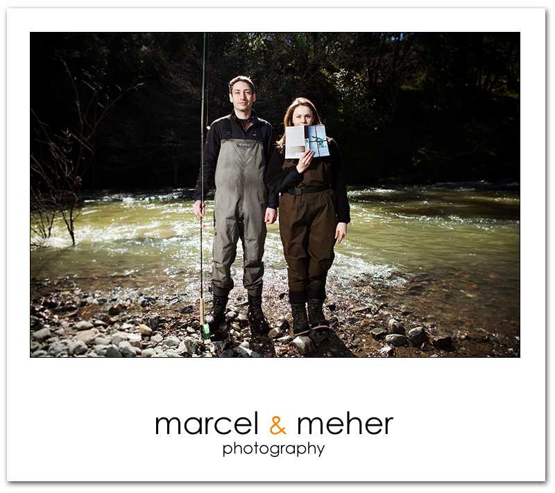 Fly Fishing engagement session in Sonoma County, Russian River