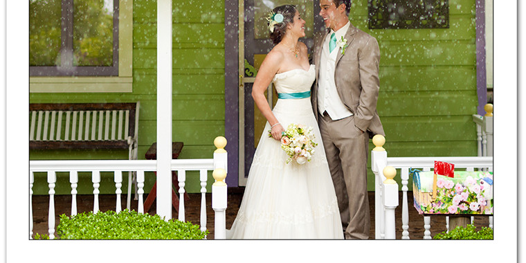 Marisa and Matt Healdsburg Country Gardens Monsoon Wedding