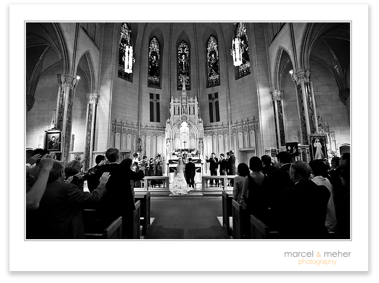 San Francisco Wedding  at the historic St. Patricks Cathedral