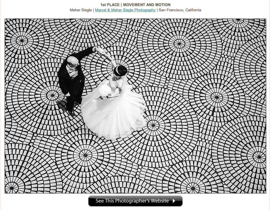 san francisco wedding photography award